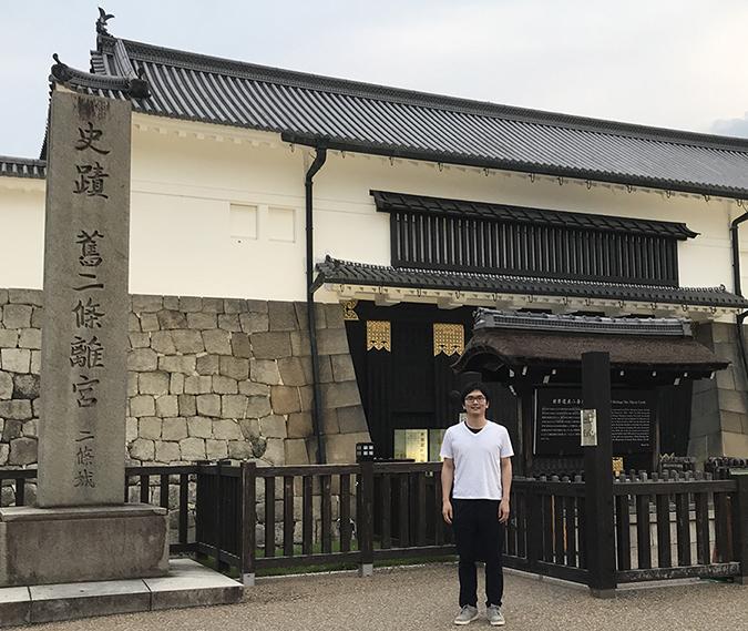 京都の二条城での写真